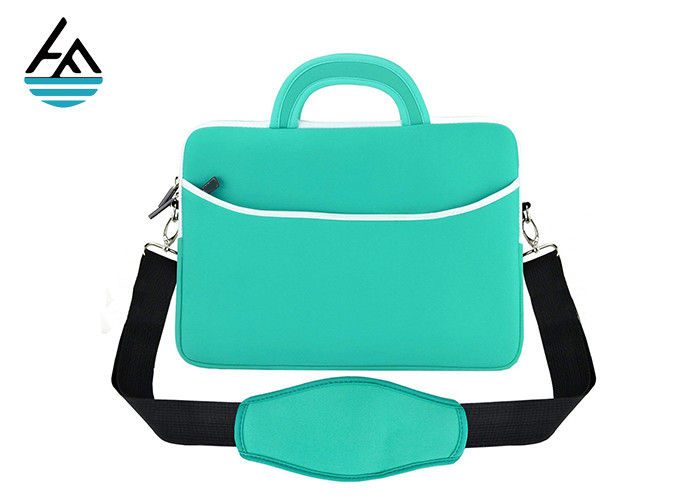 Custom Waterproof Neoprene Laptop Bag With Shoulder Strap Smooth Zipper