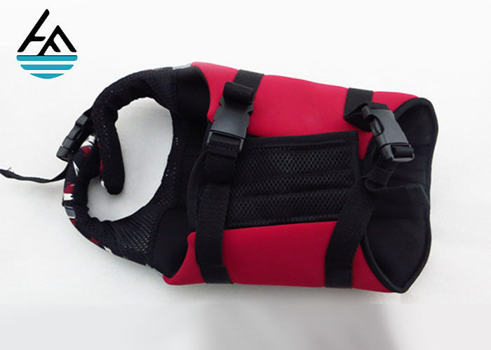 5mm Custom Neoprene Dog Vest With Handle , Neoprene Dog Life Jacket Pure Color