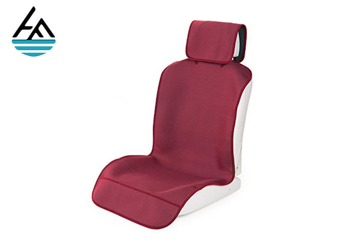 Red SBR Fitted Neoprene Jeep Seat Covers Digital Printing Technology