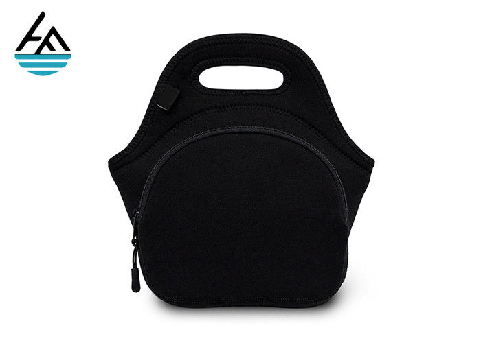 Black Built Ny Gourmet Getaway Neoprene Lunch Tote With Nylon Zipper